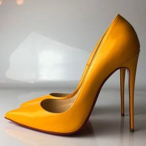 Christian Louboutin So Kate Yellow Patent Heels 40